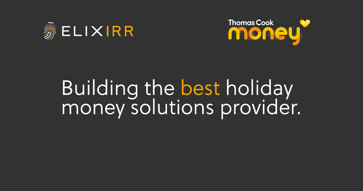 Thomas cook money and Elixirr logo