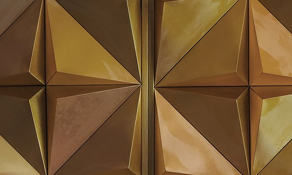 gold and brown shapes in a pattern
