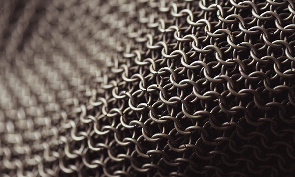 close up image of chainmail